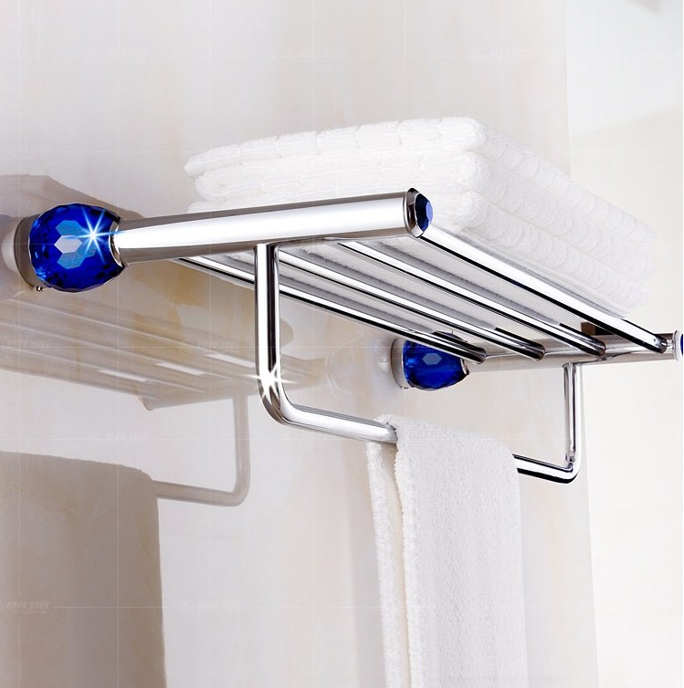 Copper Material Luxury Crystal&Chrome Finish Design Towel Rack,Modern Bathroom Accessories Towel Bars Shelf,Bronze  Towel Holder new arrival bathroom towel rack luxury antique copper towel bars contemporary stainless steel bathroom accessories 60cm k301