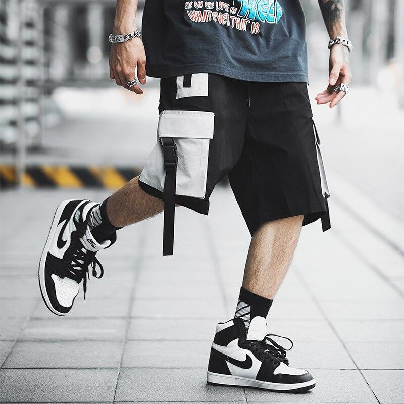 2019 Hip Hop Men Summer   Shorts   Work Streetwear Slim Fit   Short   Trousers Fashion Mens Cargo   Shorts   Men ABZ386