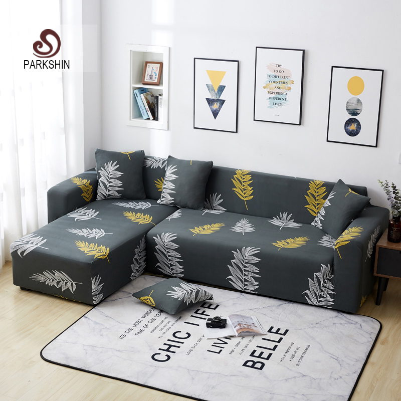 Parkshin Nordic Four Season Slipcover Non slip Elastic Sofa Covers Polyester All inclusive Stretch Sofa Cushion 1/2/3/4 seater-in Sofa Cover from Home & Garden