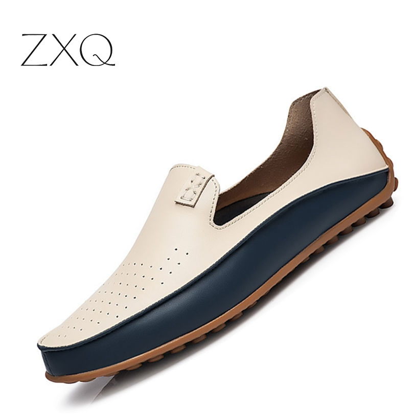 2017 Causal Shoes Men Loafers high quality Soft Leather Moccasins Men Driving Shoes High Quality Flats For Man size 39-47 summer causal shoes men loafers genuine leather moccasins men driving shoes high quality flats for man