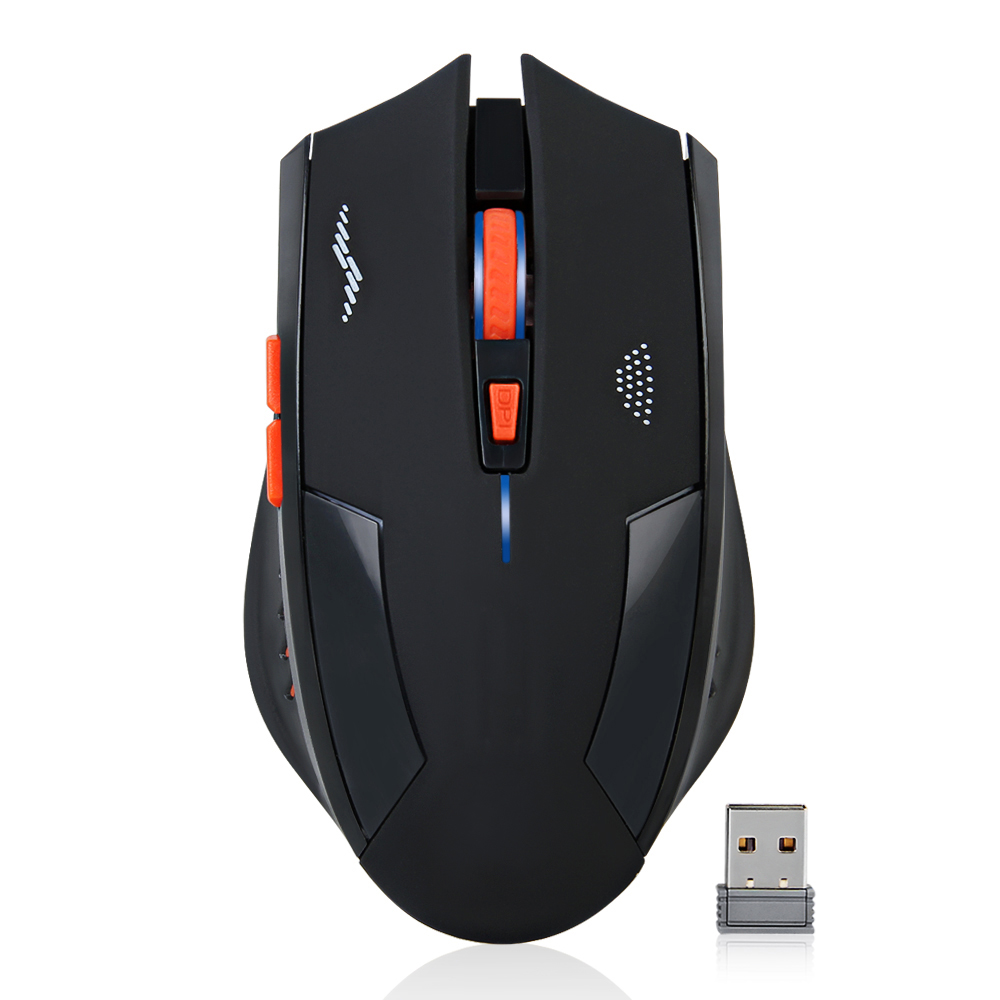 Genopladelig trådløs mus 2400DPI 2.4G USB Gaming Mouse Stille indbygget lithium batteri til pc bærbar computer gamer
