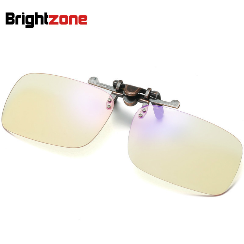 Brightzone Full Metal Anti-Computer Radiation Blue Light Glasses The Internet-Surf Study Gaming Plain Glasses Eyewear Goggles