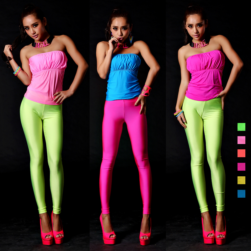 Neon Outfit Party : fashion party neon color all match sexy slim tube top costume 8 in tops tees from women 39 s ~ Yuntae.com Dekorationen Ideen