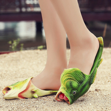 2017 New fish Beach Slippers Women Summer Shoes Flat with Sandals soft Female fashion Casual shoes Non-slip outdoor Flip Flops