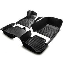 Coche alfombras de auto tapetes de cuero set para Mazda 2/3/6 cx-5 ATENZA Familia Premacy cx-7 deportes foot pad caso crema envío gratis