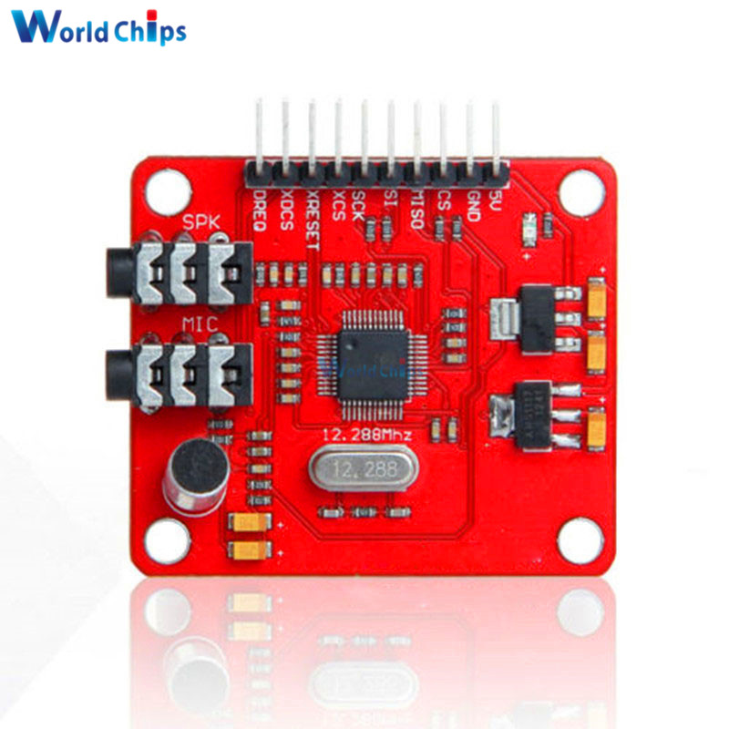 VS1053 VS1053B MP3 Module For Arduino UNO Breakout Board With SD Card Slot VS1053B Ogg Real-time Recording For Arduino UNO OneVS1053 VS1053B MP3 Module For Arduino UNO Breakout Board With SD Card Slot VS1053B Ogg Real-time Recording For Arduino UNO One