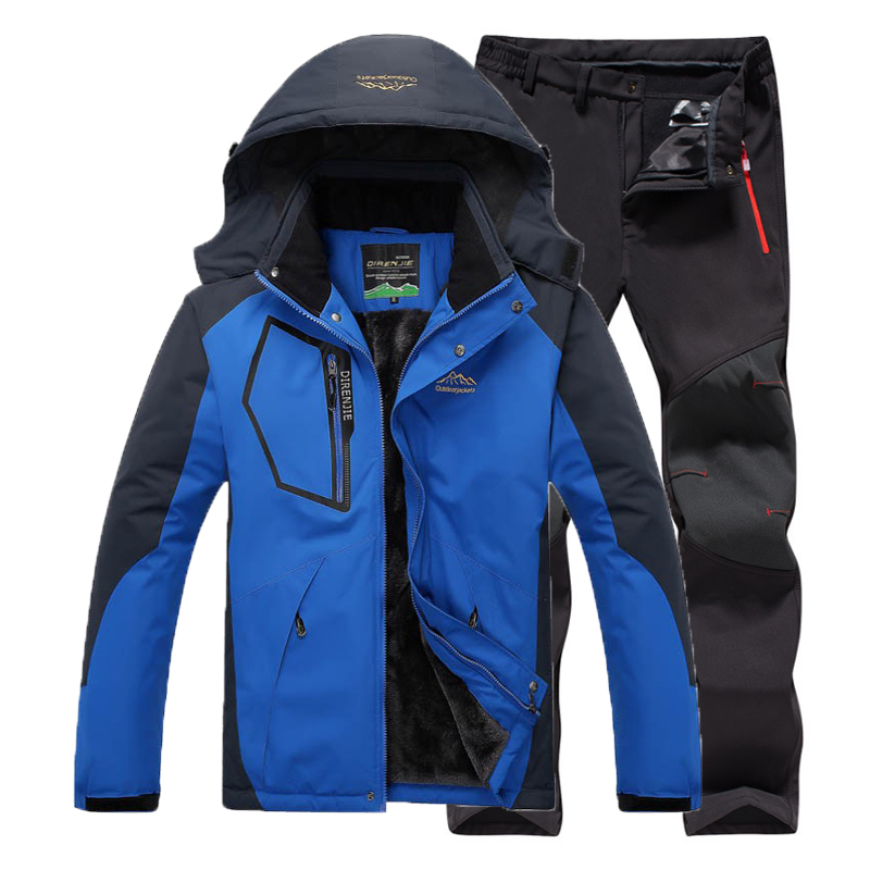 Camping Trekking Hiking Climbing Skiing Fishing Winter Waterproof Pants Men Fleece Outdoor Jacket Soft shell Trouser Sports 5XL
