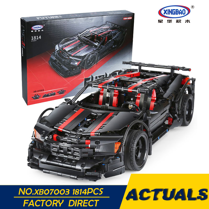 XingBao 07003 Creative MOC Technic Series The 2015 Assassin X19 Set Children Educational Building Blocks Bricks
