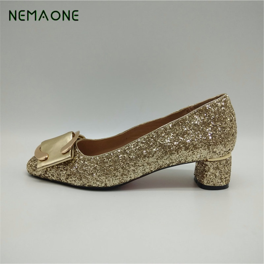 NEMAONE 2017 New fashion women shoes low heel shoes woman square toe ladies shoes zapatos mujer large size 34-43 nemaone 2017 new elegant women pumps poined toe low heels women shoes office lady dress shoes zapatos mujer large size 34 43