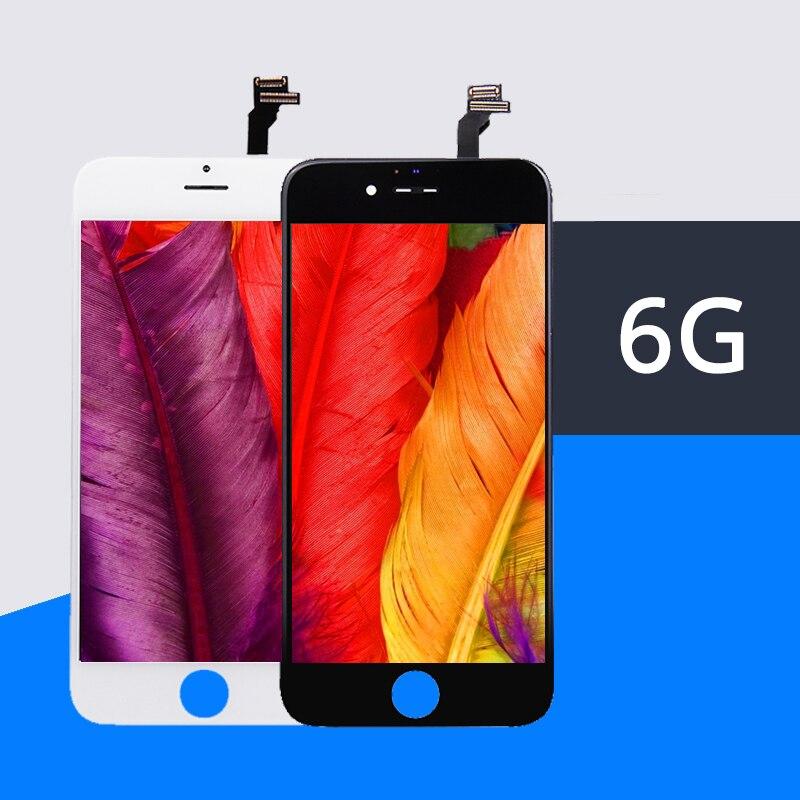 10 PCS 100% Qualité AAA Garantie Tous Les Tests Pour iPhone 6 6G LCD Écran Digitizer Écran tactile Assemblée Verre Châssis froid