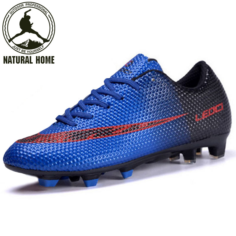 ФОТО NaturalHome 2017 Soccer Shoes for Men Football Boots Soccer Cleats Outdoor Sneakers Botines Zapatos de Futbol Football