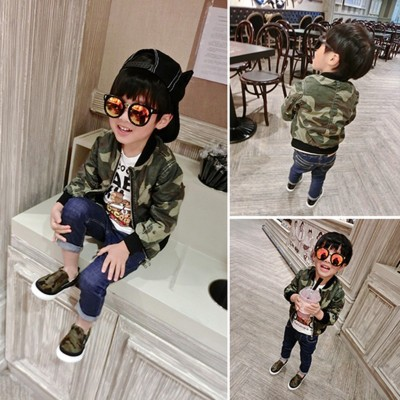 Boys Jackets Sport camouflage Coats For Baby Boys Outerwears 1-5Y Childrens Jackets Autumn spring Outdoor Windbreak boy clothes