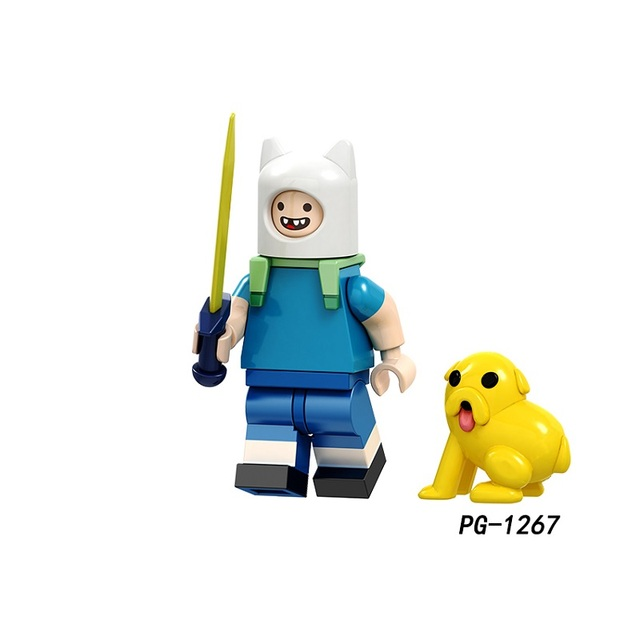 Single Sale Super Heroes Adventure time Finn Banana guard Jack Flame princess Figures Building Blocks Gift Toys Kids