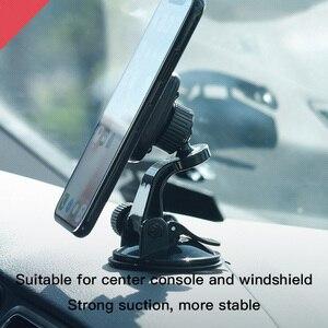 Image 4 - HOCO cam montaj araba telefon tutucu Samsung S9 S8 360 pano araba manyetik tutucu iPhone Xs için telefon araba standı