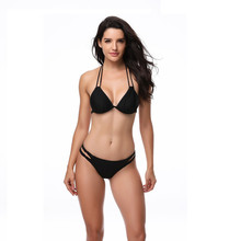 e075e639c 2018 Hot Design Retro Style Simple Model Brazilian Sexy Binding back Swimsuit  Bikinis Halter Padded Biquinis