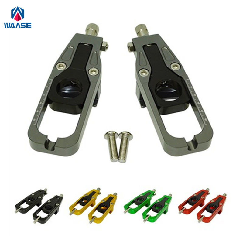 waase Chain Adjusters Tensioners Catena For Kawasaki Ninja ZX-6R 2005 2006 2007 2008 2009 2010 2011 2012 2013 2014 2015 2016 for kawasaki zx10r 2006 2015 2007 2008 2009 2010 2011 2012 2013 2014 red