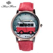 Feifan reloj Antiguo del cuarzo del dial relojes de Marca relojes de las mujeres de Moda cinturón de tela de una variedad de estilo de La Motocicleta Del Coche del brazalete-FP099