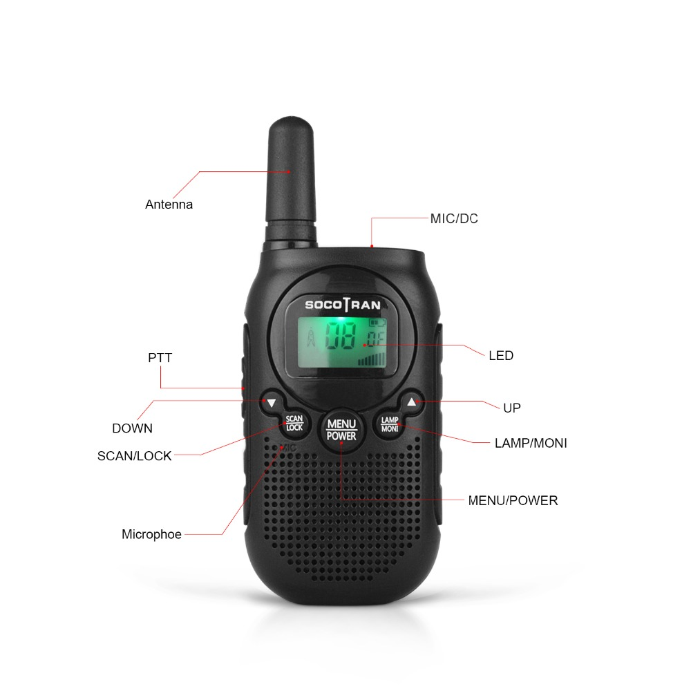 Image 2 - PMR446 Kids walkie talke licence free kids two way radio 0.5W 8CH VOX Radio w/ privacy code &rechargeable battery 2 Pair-in Walkie Talkie from Cellphones & Telecommunications