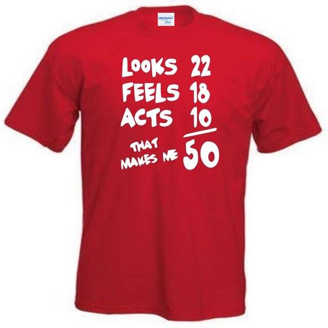 Hot Summer T Shirt Fun Mens 50th Birthday Funny Ideas Tee Shirts