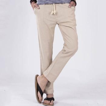 Healthy Breathable Mens Casual Linen Pants