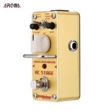 AROMA AAS 3 Mini Pedal de efecto guitarra eléctrica, simulador de guitarra acústica AC Stage, con Bypass verdadero