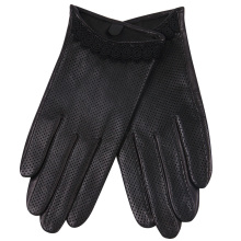 Genuien Leather Gloves Lady Autumn Sheepskin Driving Thin Style Breathable Touchscreen Woman L18001NN-9