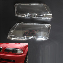 for BMW 98-01year Two doors E46 M3 318i 320i 323i 325i 328 Automobile headlamp cover lamp housing PC transparent