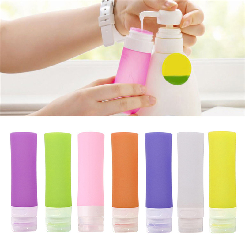 NEW 38/60/80ml Silicone Travel Packing Bottle For Lotion Shampoo Bath Container Hot For Travel
