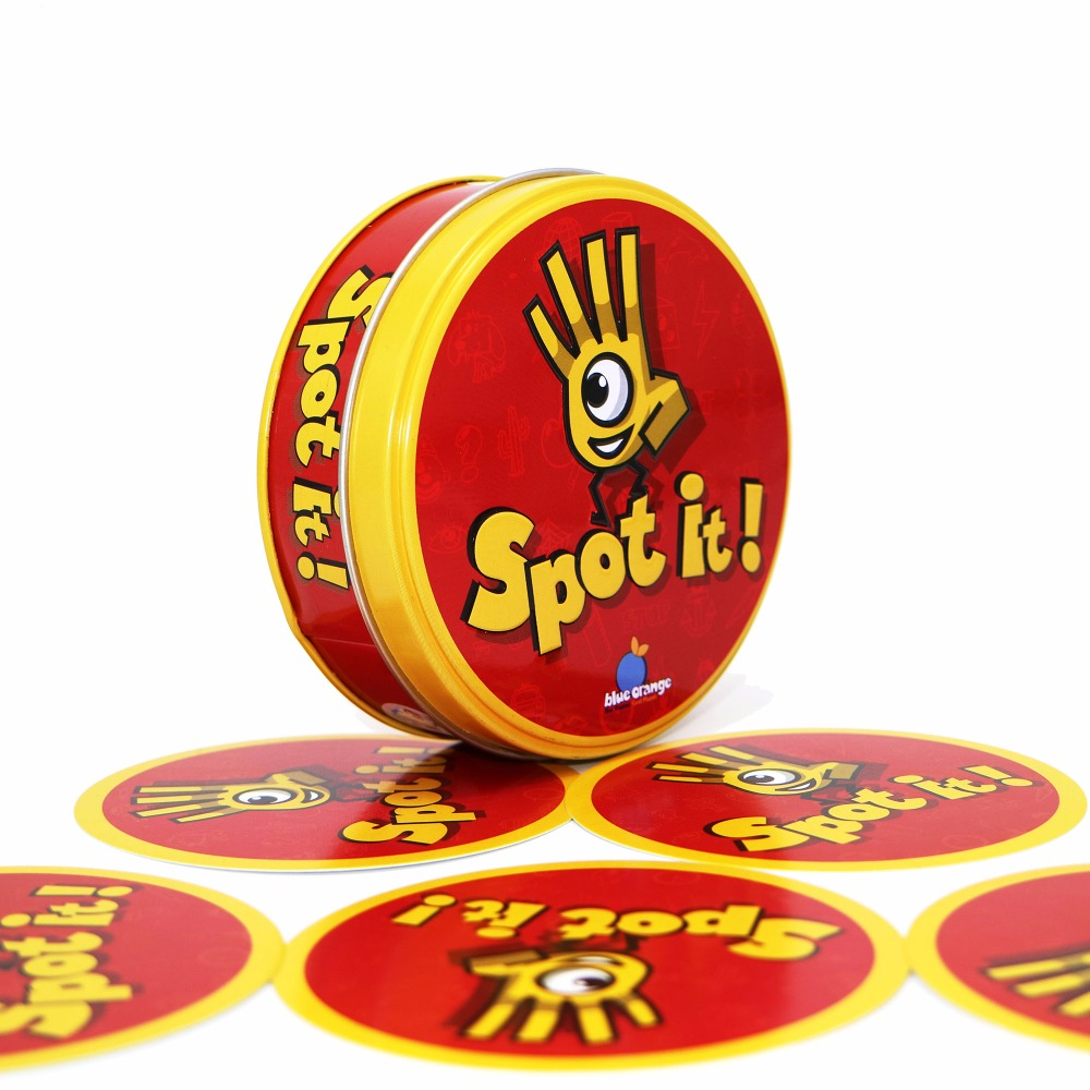 spot dobble find it board game for children, magic fun with family gathering, the animals paper quality card, box mtg proxy bohs 2 persons parent child board game family fun recreation