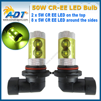 Newest With Cover 4pcs 9006 HB4 9012 FOG Light DRL 50W Crees High Power Led Replacement