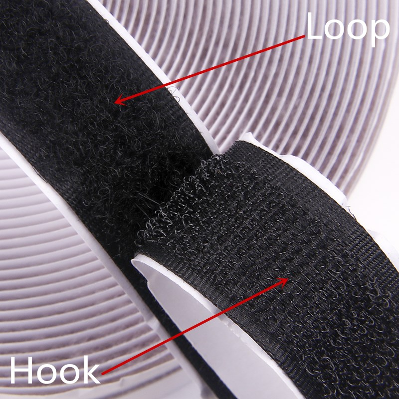 49 M Flex Tape Hook Loop Fastener Nylon Sticker with Super Glue Sewing Camo Shoes Self Adhesive Bags Clothing Accessories Hooks