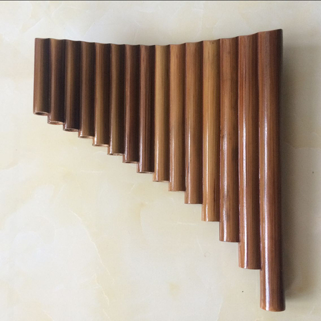 SevenAngel Handmade Right Hand 15 Pipes Bamboo Panflute Key of G Woodwind Flute Xiao Folk Musical Instruments pipes Dizi