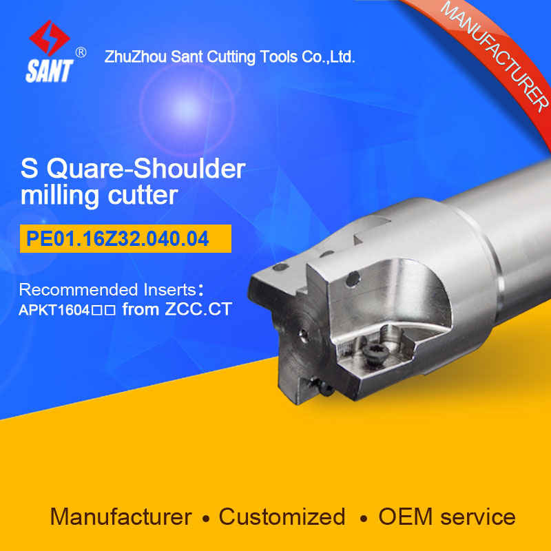 Zhuzhou Sant Indexable milling cutter with 90degree EMP01-040-G32-AP16-04/PE01.16Z32.040.04 Mached carbide insert APKT160408  цены