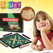 цены на English Scrabble Games Kids Crossword Puzzles Board Children Words Spelling Toy Jigsaw Words Teaching Aid Toys For Family  в интернет-магазинах