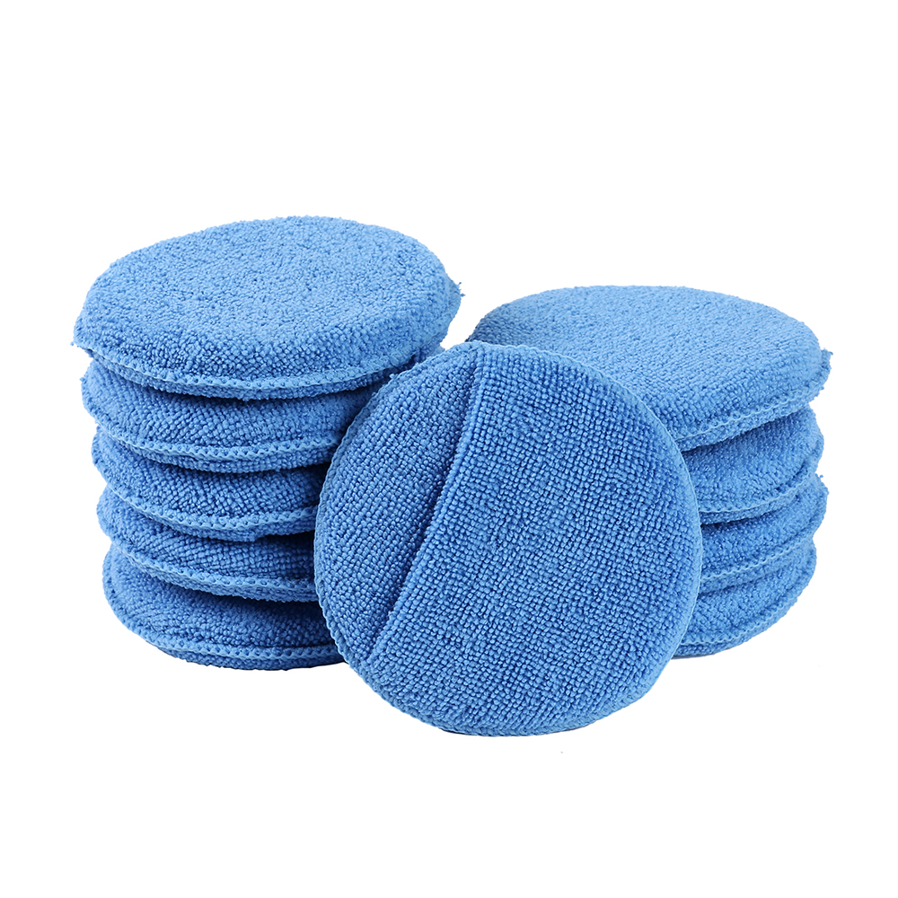 Soft Microfiber Car Wax Applicator Pad Polishing Sponge For Apply And Remove Wax Auto Care Polish Foam Sponge