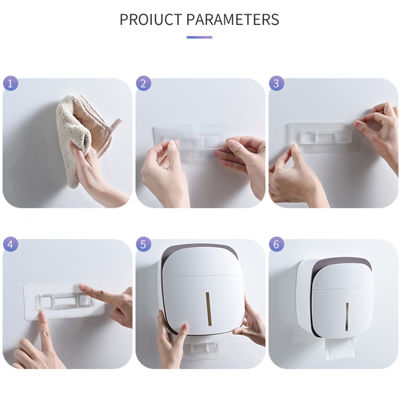 Free shipping Waterproof Wall Mount Toilet Paper Holder Shelf Toilet Paper Tray Roll Paper Tube Storage Box Creative Tray
