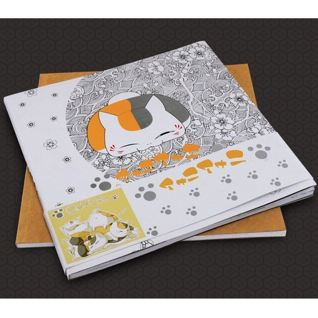 Kawaii japonés anime libro para colorear adulto Natsume libros para ...