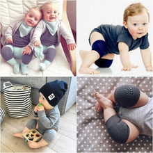 Newborn Baby Knee Pad Crawling Leg Protector Anti-skid Toddler Infant Knee Leg Warmer Guard Cover Comfortable Knee Caps boy(China)