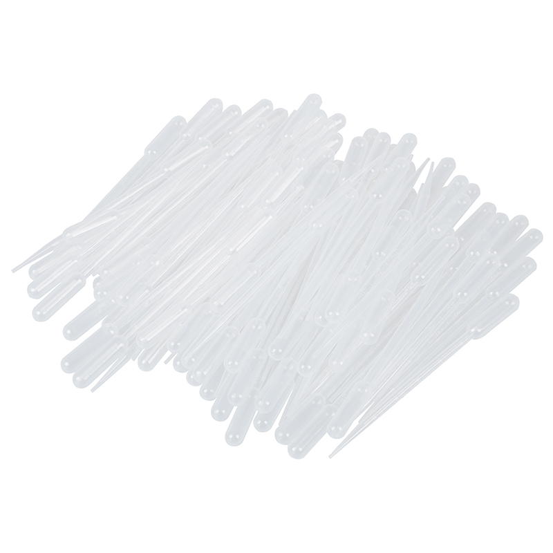100PCS Graduated Pipettes Dropper Polyethylene 3 Ml