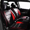 Cubierta de asiento de coche de cuero pu artificiall faux immtation fibra 5 cubierta de asiento de ful rojo accesorios del interior del coche interior auto cubre
