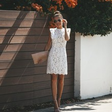 Summer Lace Dress Women Floral Elegant Vintage Sleeveless O-neck Patchwork Bodycon Party Dresses Vestido