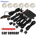 hot sale new with LED Backlight Display Car Parking Sensor Reverse Backup Radar System 6 Sensors 9 Colors for Option