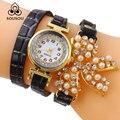 2016 Лучший Бренд Класса Люкс Кварцевые Часы Женщины Rhinestone butterfly Золотые Часы relogio женщина для женщины Часы Платье Браслет Часы