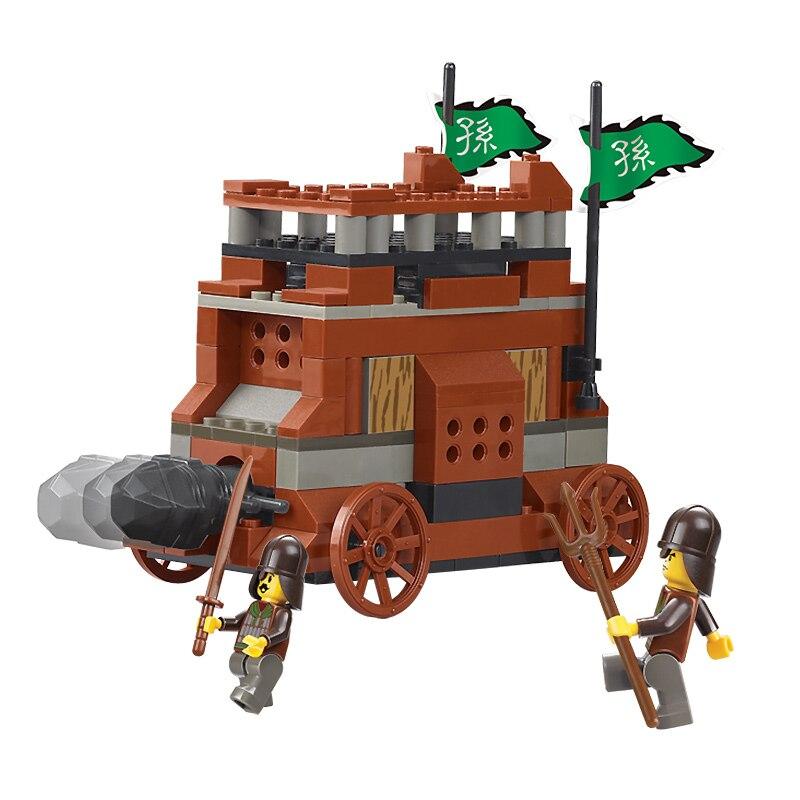 0260 138pcs Sanguo Catapult Constructor Model Kit Blocks Compatible LEGO Bricks Toys For Boys Girls Children Modeling