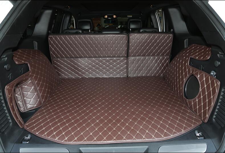 Hohe qualität! spezielle kofferraum-matten für neue jeep grand cherokee wk2 2017-2016 wasserdicht boot teppiche cargo-liner matte, freies verschiffen