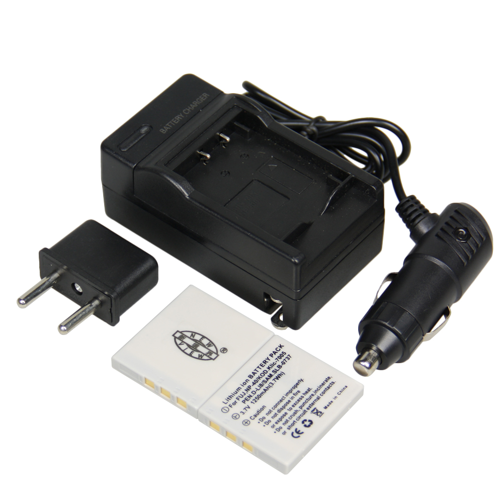 2pcs Battery Charger Np 40 Np 40 Np40 Rechargeable