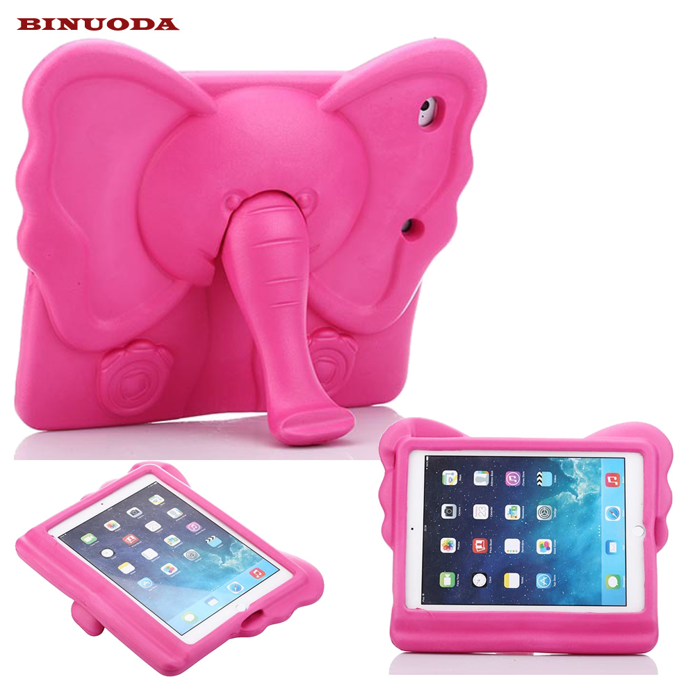 Kids Case for iPad Air Cute 3D Elephant Durable Drop resistance EVA Foam Protective Case Cover for Apple iPad 5 Air 1 Fundas scomas tablet pc case for apple ipad 5 air 1 drop resistance cover protective with hand strap fashion pirate king stand bracket