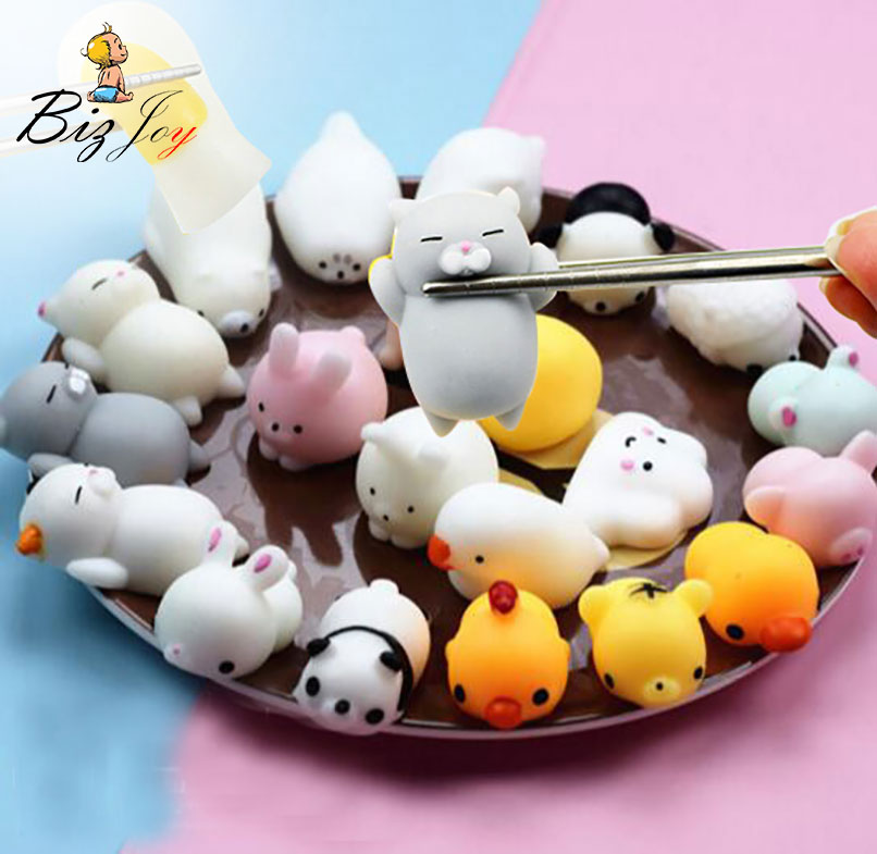 1PCS Kawaii Squishy Antistress Slow Rising Mini Mochi Animal Healing Soft Hand Press Squeeze Toy Adult Kids Fun Stress Reliever