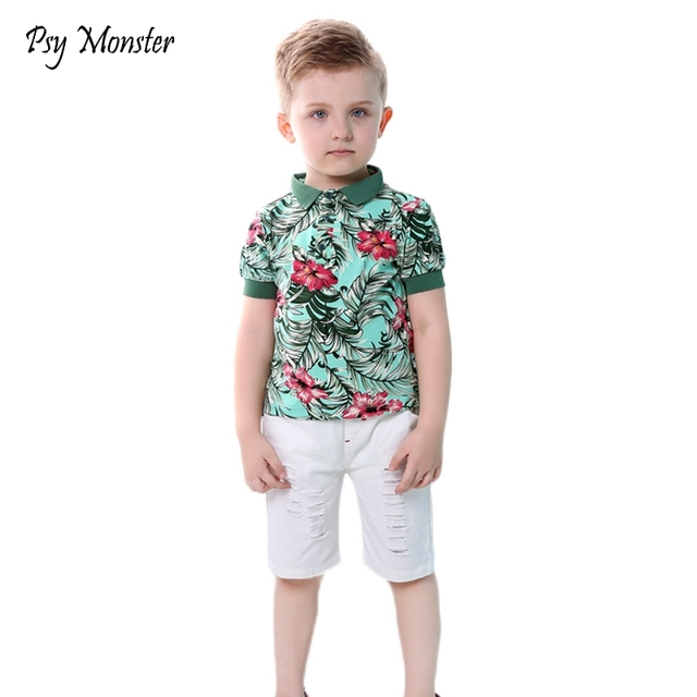 257c9ae93 Brand Baby Boys Clothing Sets New Summer Fashion Hawaii Beach Style ...