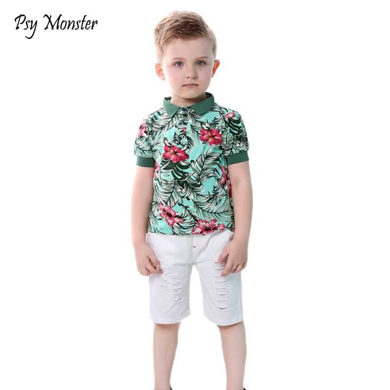 397096a5d Brand Baby Boys Clothing Sets New Summer Fashion Hawaii Beach Style Kids  High Quality Clothing Children